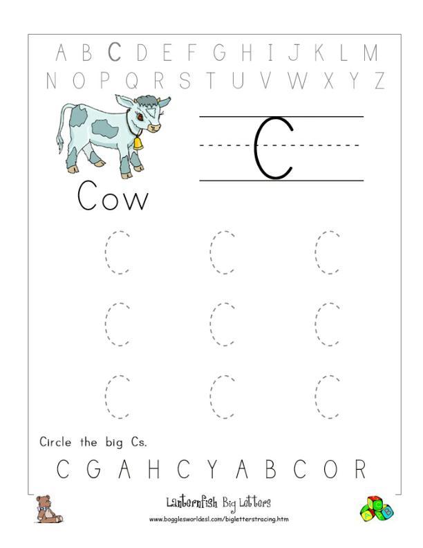 Letter C Alphabet Worksheets