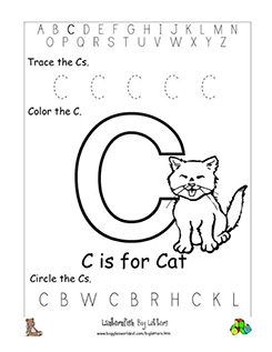 letter c alphabet worksheets. Black Bedroom Furniture Sets. Home Design Ideas