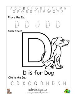 letter d alphabet worksheets. Black Bedroom Furniture Sets. Home Design Ideas