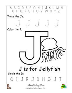 letter j alphabet worksheets. Black Bedroom Furniture Sets. Home Design Ideas