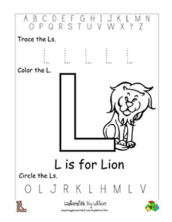 letter l alphabet worksheets. Black Bedroom Furniture Sets. Home Design Ideas