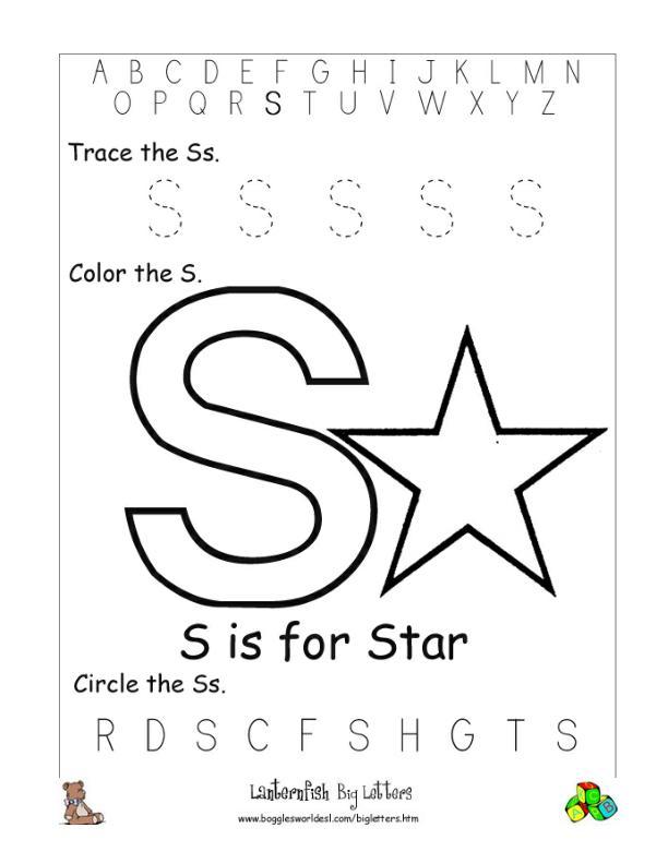 Letter S Alphabet Worksheets