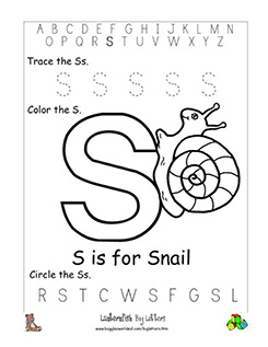 letter s alphabet worksheets. Black Bedroom Furniture Sets. Home Design Ideas