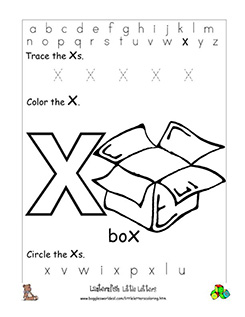 Letter X Alphabet Worksheets