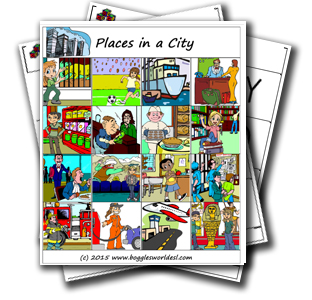 City Places Bingo Game