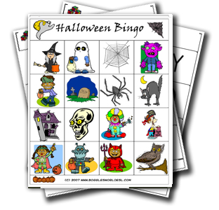 photo about Printable Halloween Bingo Cards called Halloween Bingo Sport