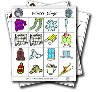 image regarding Winter Bingo Cards Free Printable titled Winter season Bingo Recreation
