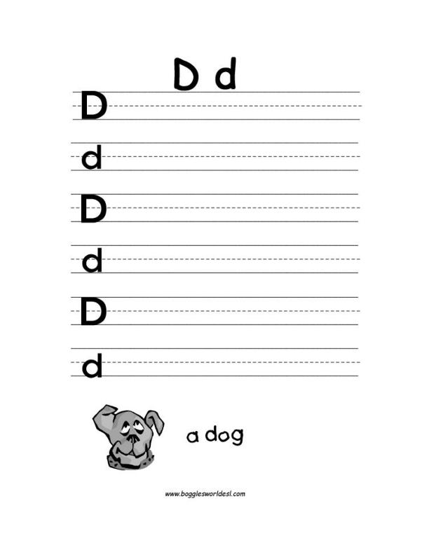 letter d alphabet worksheets. Black Bedroom Furniture Sets. Home Design Ideas