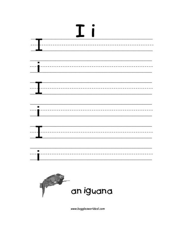 Aldiablosus  Inspiring Letter I Alphabet Worksheets With Exquisite Big And Little I Writing Worksheet With Agreeable Limiting Adjectives Worksheet Also Comparison Of Adjectives Worksheet In Addition Esl Months Of The Year Worksheet And Free Printable Worksheets For Kindergarten Phonics As Well As Lowercase Alphabet Worksheets Additionally Basic Budgeting Worksheets From Bogglesworldeslcom With Aldiablosus  Exquisite Letter I Alphabet Worksheets With Agreeable Big And Little I Writing Worksheet And Inspiring Limiting Adjectives Worksheet Also Comparison Of Adjectives Worksheet In Addition Esl Months Of The Year Worksheet From Bogglesworldeslcom