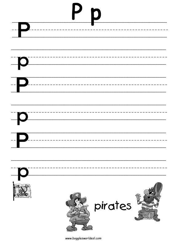 Letter P Alphabet Worksheets – Letter P Worksheets for Kindergarten