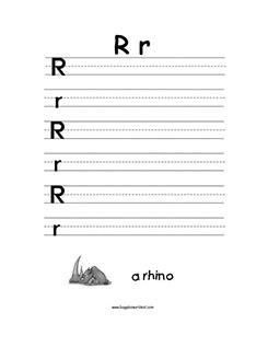 R For Reindeer Worksheet Letter R Alphabet Work...