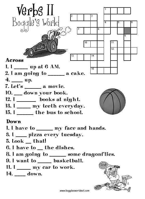 Crosswords for esl ccuart Image collections