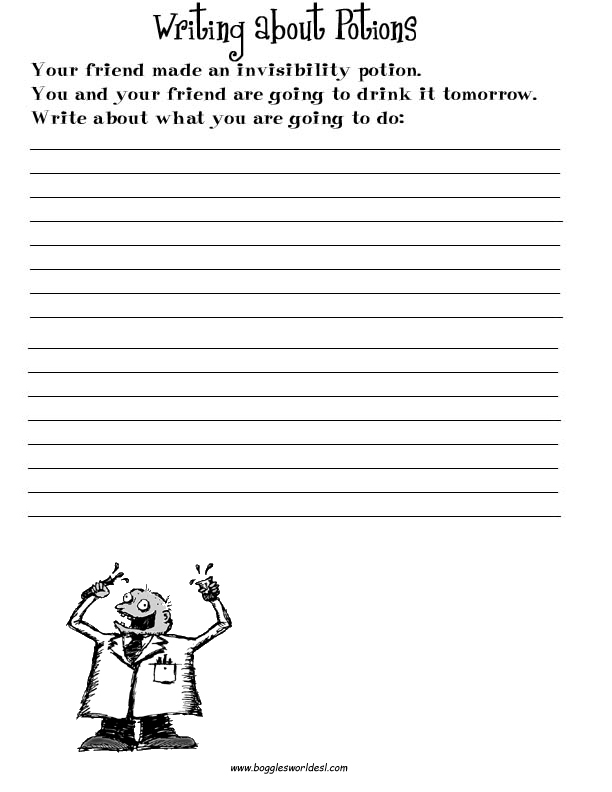 ESL Creative Writing Worksheets – Writing Prompts Worksheets