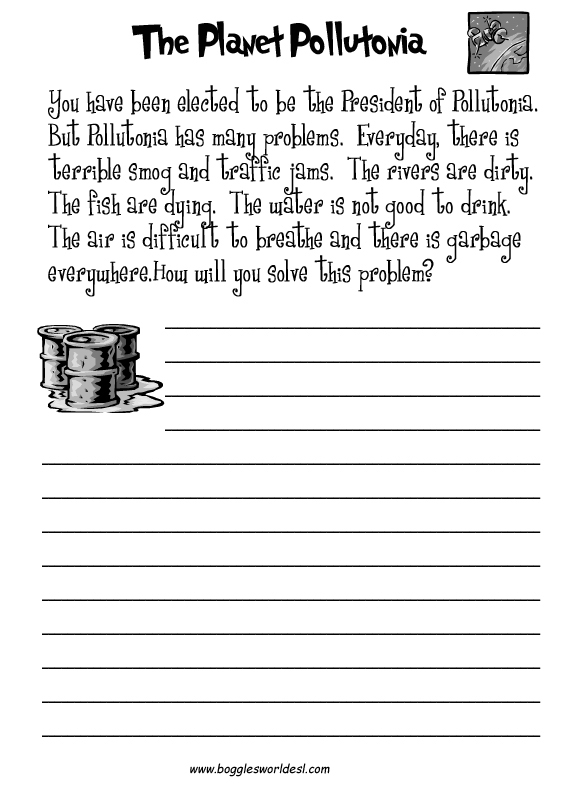 ESL Writing Worksheet – English Activity | English Worksheets ...
