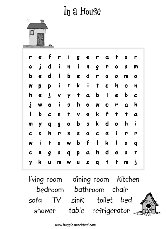 WORDSEARCHES FOR KIDS - FREE PRINTABLE WORKSHEETS