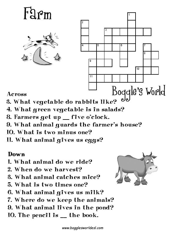 Crosswords For ESL