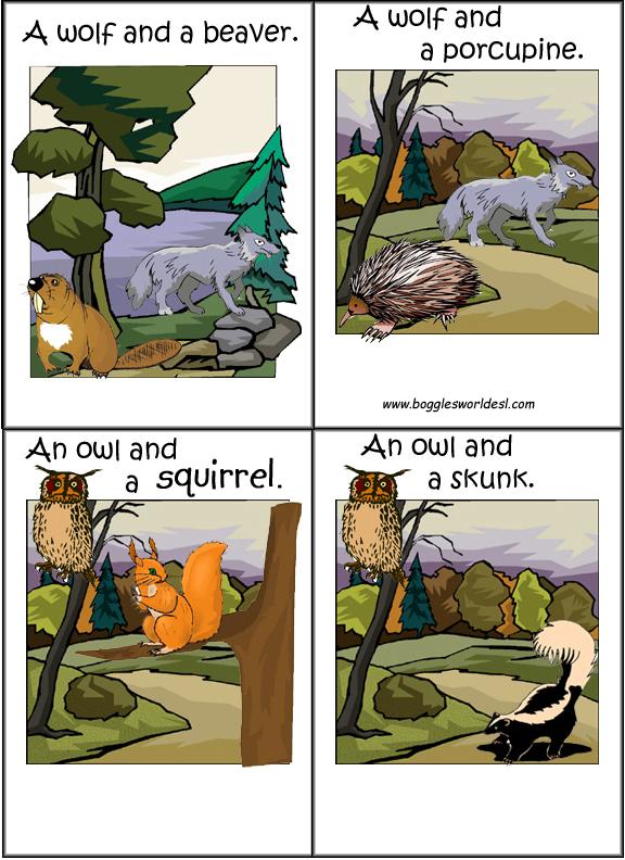 Flashcards Forest Animals For Esl