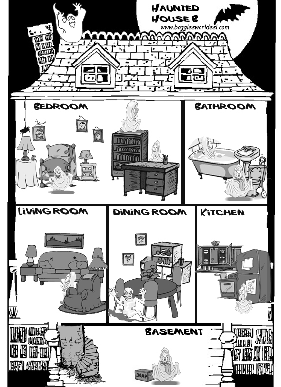 haunted house gap - Halloween Activity Sheets