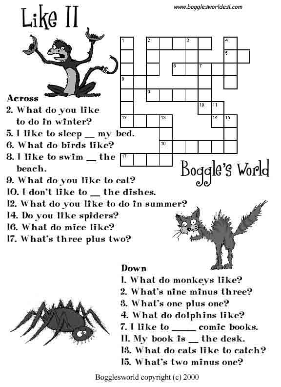 crosswords for esl - Bogglesworld Halloween