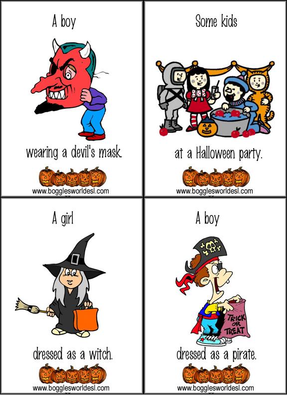 halloween flashcards2 - Bogglesworld Halloween