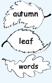 Autumn Leaf Word Samples