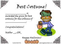 best halloween costume award  Halloween Costume Contest