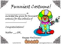 Funniest Costume award