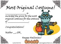 Award for Most Original Costume