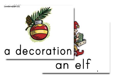 Christmas Holiday Flashcards