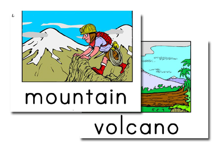 large landform flashcards