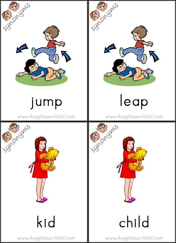 Worksheet Jump Synonym synonym card game cards 15