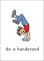 Sample 'Can' card: Do a handstand.