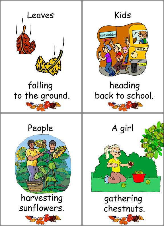 Afbeeldingsresultaat voor autumn flashcards