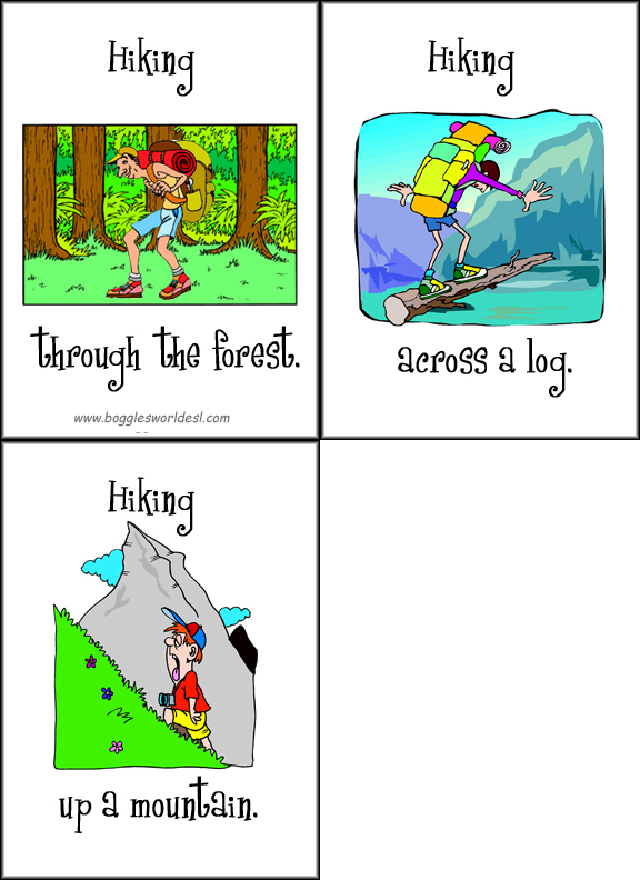 Prepositions Of Movement Card Set 3