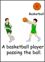 Sample sports flashcard.