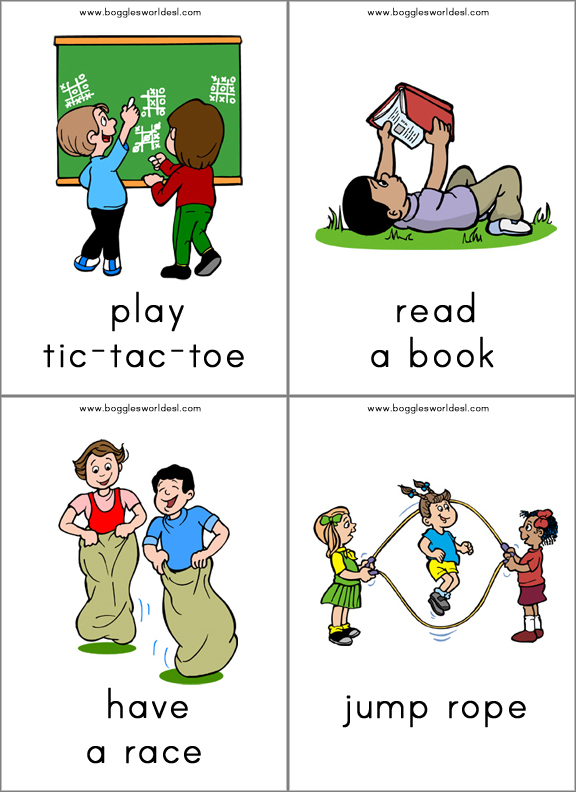 flashcards for teaching the stative verb want