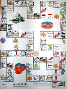 Word Skills Game Board