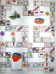 word skills board game