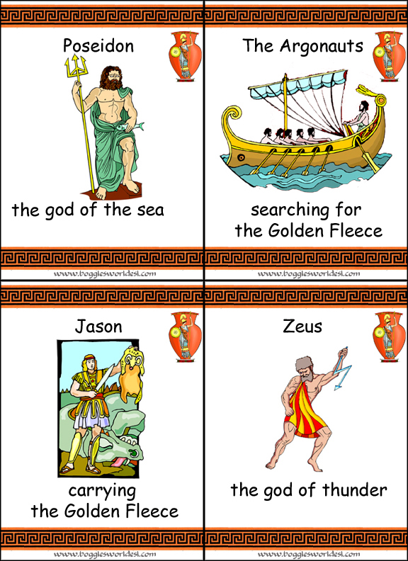 Greek Mythology Flashcards – Greek Gods Worksheet