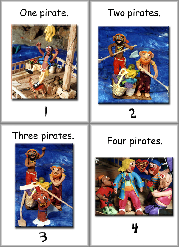 flashcards  pirate cards
