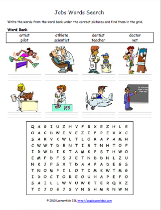 easy job word search 1