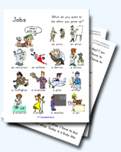 Jobs and Occupations Worksheets for Young Learners