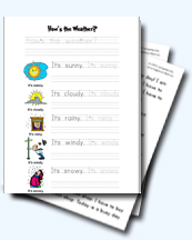 weather worksheets for young learners. Black Bedroom Furniture Sets. Home Design Ideas