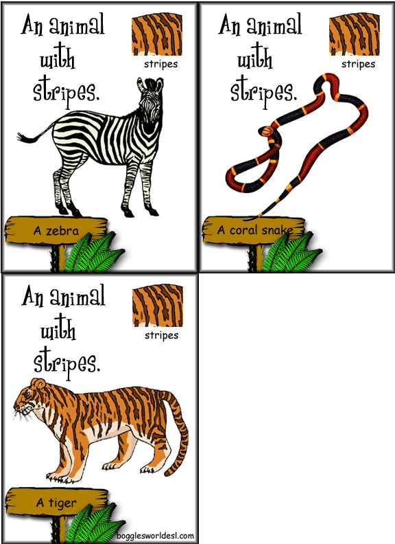 Animal Parts of Body Animals With Stripes