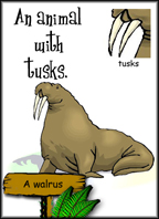 An animal with tusks: Sample card.