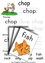 Consonant Digraphs Sample Resource: fish and chop