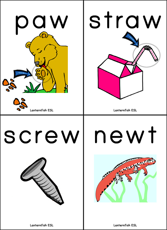 vowel digraph flashcards