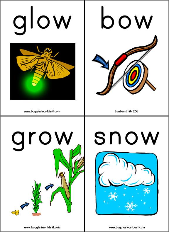 Vowel Digraphs 2 Phonics Card Game. Vowel Digraphs 2 Ow Words. Worksheet. Ow Words Worksheet At Clickcart.co
