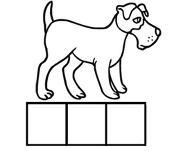 Letter d alphabet worksheets elkonin boxes with d slots bed dish dog duck pronofoot35fo Gallery