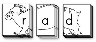 Sample Phonics Monster Card Set Up: R A D